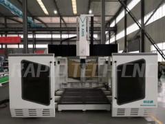 济南锐达通巴吉五轴加工中心定柱式PTP龙门五轴联动实木铝膜